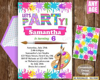 Art Party Invitation Art Invitation Art Birthday Party