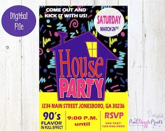 90s Party Invitation Etsy