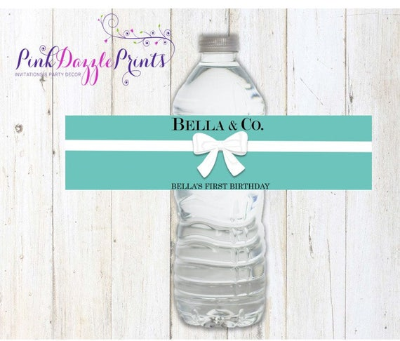 Water Bottle Name Tags: Printable Name & Co. Water Bottle Labels Digital File