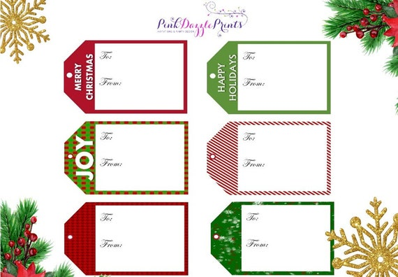 picture relating to Printable Holiday Tags identify Printable Xmas Reward Tags- Electronic Record Merely- Vacation