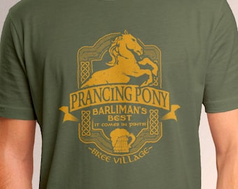 LOTR Inspired Prancing Pony Men's T-Shirt