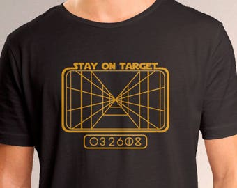"Star Wars Inspired ""Stay on Target"" Men's T-Shirt"