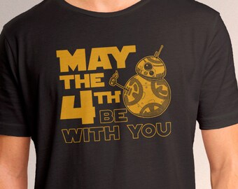 "Star Wars BB8 ""May the 4th Be With You"" Men's T-Shirt"