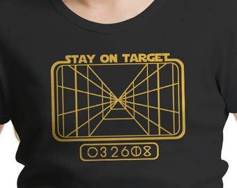 "Star Wars Inspired ""Stay on Target"" Girls' T-Shirt"