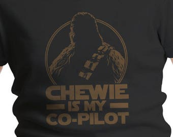 "Star Wars Inspired ""Chewie is My Co-Pilot"" Boys' T-Shirt"