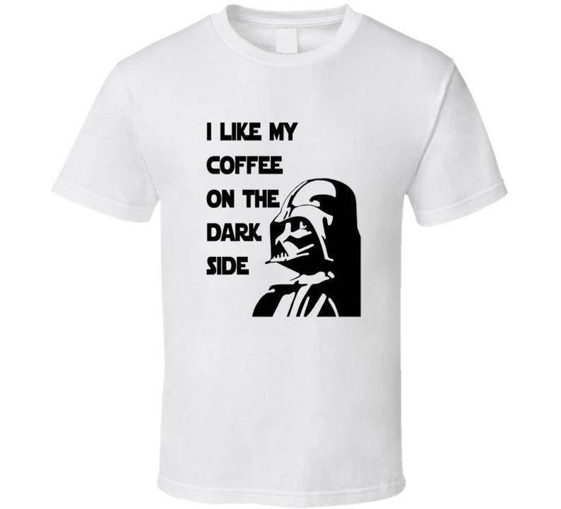 f78e99a79fae Mens T-Shirt Darth Vader Dark Side Coffee Star Wars Clothing