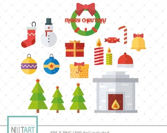 Christmas Images Clipart.Christmas Clipart Marry Christmas Clipart Holiday Clipart Etsy
