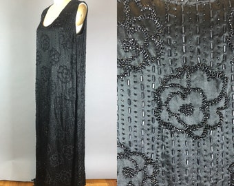 Rare VOLUP 1920s beaded evening gown   Plus size