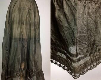 1910 tissue silk slip petticoat