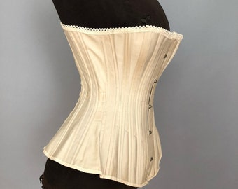 Deadstock NIB antique victorian corset; 18""