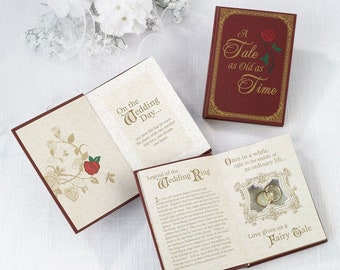 WEDDING RING box alternative Cinderella Storybook Fairytail Fairy Tail Red Gold ring bearer pillow page boy best man commitment ceremony