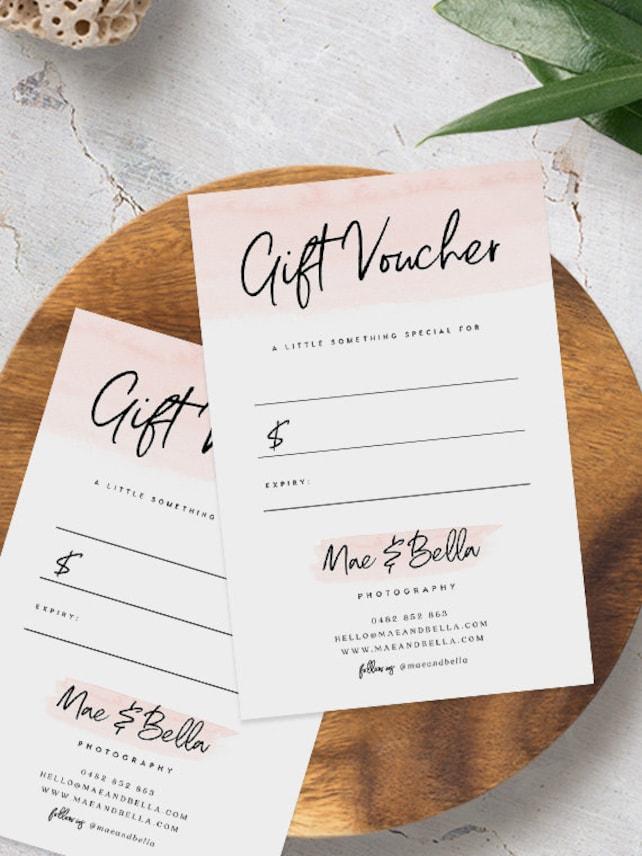 Gift Voucher Template Instant Download Printable Gift Cert Diy