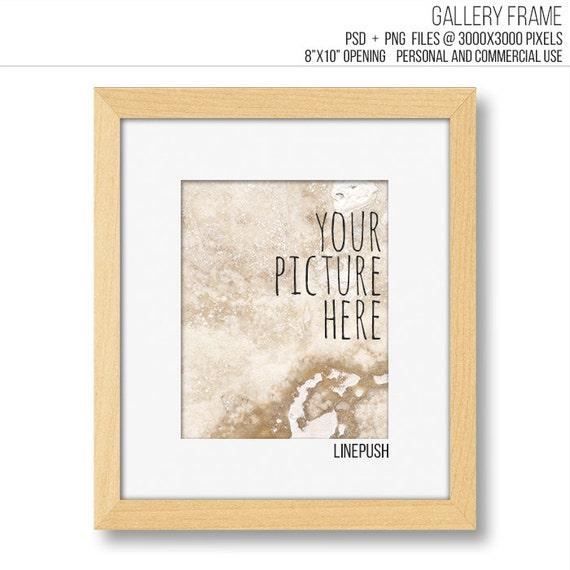 SALE Teak Wood Modern minimalist 8x10 gallery frame template. | Etsy