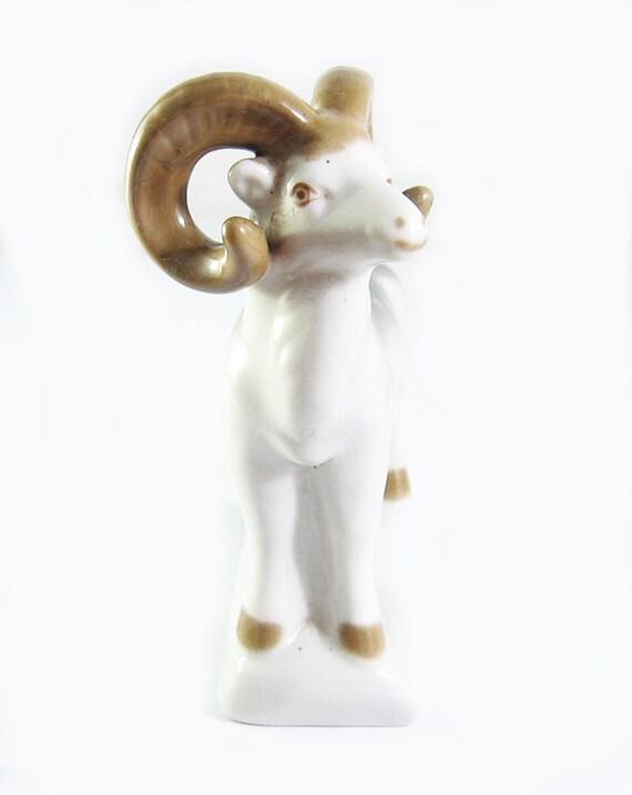 Porcelain Figurine Ram USSR