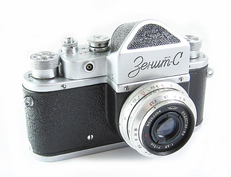 72e848b38 ZENIT S Vintage Russian 35mm film SLR Camera Industar-50 Lens
