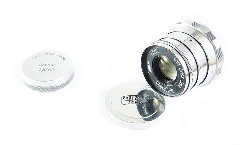 CARL ZEISS JENA Sonnar Russian Copy rf Rangefinder Lens Fed Zorki Leica M39  ltm