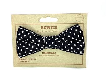 Black Spotty Dog Bow Tie
