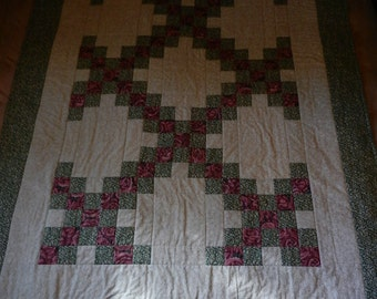 "Handmade Quilt, Nursery, Toddler Measures 64""L x 45 1/2"" W"