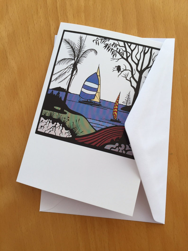 Boxed set of 8 Papercut print cards image 0