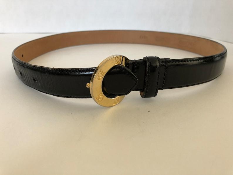 85b38171cb6 Vintage Doncaster Black Genuine Leather Ladies Belt