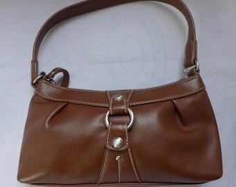 Nine West faux Brown Leather Purse 10 x 5 x 3 Soft Sides Excellent