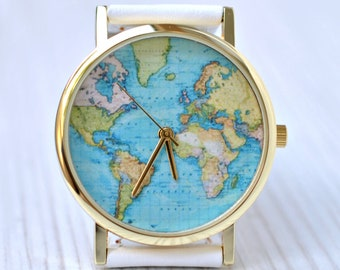 watches for women world map watch travel gift gift for women gift