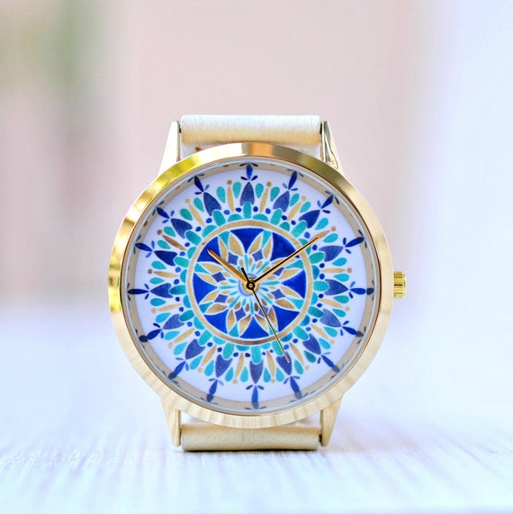 Mandala Ladies Watch Leather Birthday Gift Girlfriend