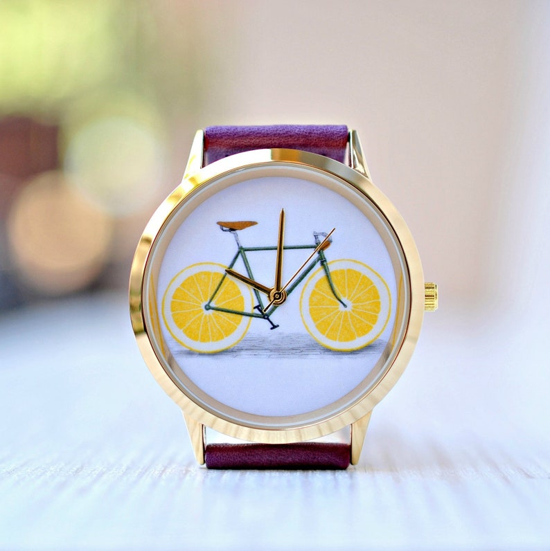 1ce6944fd03a Ladies watch Birthday gift Bicycle Gift for women Mens