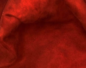 Burgundy Suede Lamb Skin Craft Leather Hides Nice, Soft, Whole Skins! Free Shipping