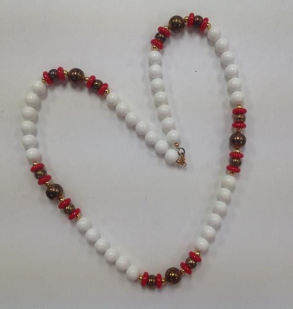 Vintage Signed Dotty Smith Chunky Bead Necklace