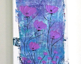 abstract modern painting, contemporary art, contemporary painting, abstract painting blue flower rose, 3D painting