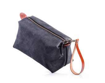 3f05ca7f0f Leather Pouch by Kruk Garage Leather Dopp kit Travel pouch Necessairies bag  Toiletry bag Mens bag Travel kit Groomsmen bag