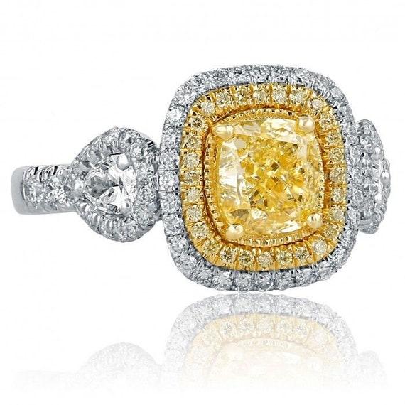 2 ct poire-Cut D//VVS1 Diamant Solitaire bague de fiançailles 10k or Blanc