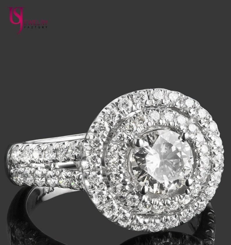cf8592676bb7 Anillo de compromiso diamante corte redondo TCW 1.95