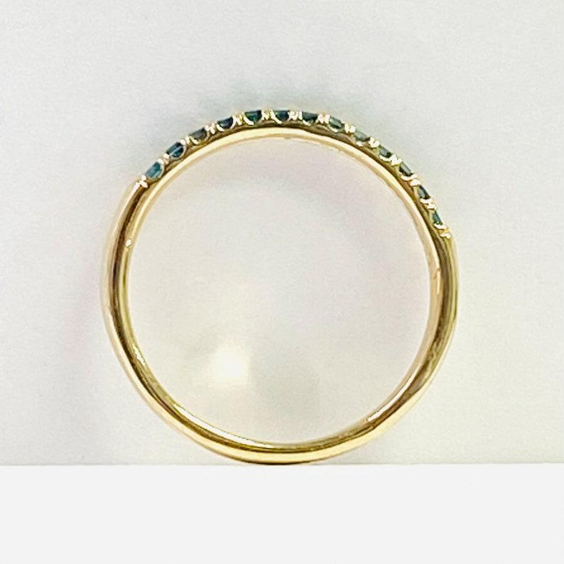 Diamond Wedding 0.25 Ct Diamond Wedding Ring 10k Yellow Gold 13 Blue Stones Anniversary Band Princess Cut Women/'s Pave Set Ring.