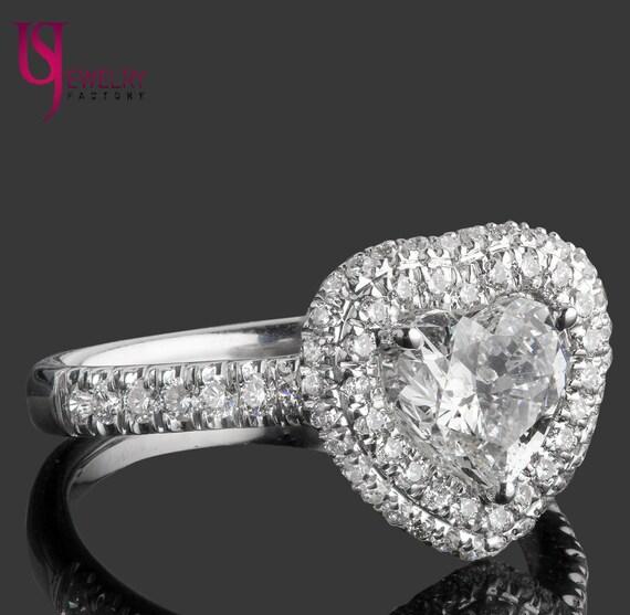 Herz Diamant Ring 135 Tcw Halo Diamant Ring Herz Geformte Etsy