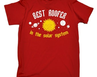 4d5dd935 123t Men's Best Roofer In The Solar System Galaxy Design Funny T-Shirt Tee  Tshirt T Shirts Funny Novelty Birthday Gift Present Christmas