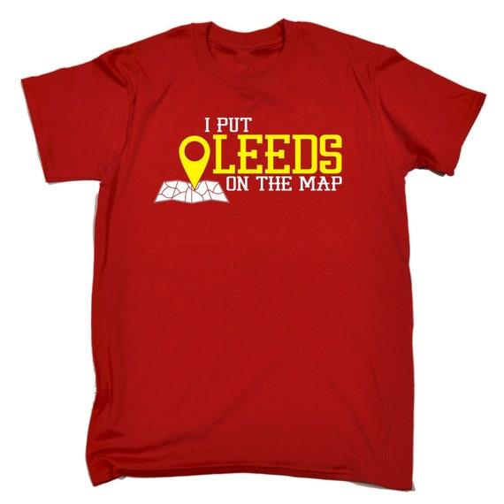 123t des hommes j'ai mis Leeds Leeds mis sur le cadeau d'anniversaire carte drôle T-Shirt Tee Tshirt T Shirts nouveauté drôle cadeau Noël d12023