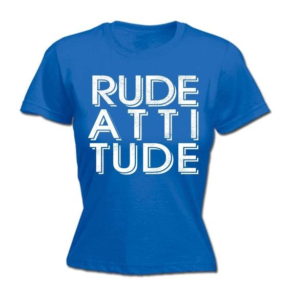3e7db0b3 Women's Ladies funny tee T Shirt T-Shirts 123t Rude | Etsy