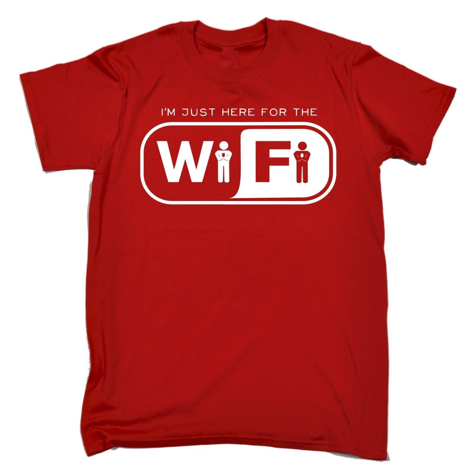 123t des hommes, je suis ici pour le Wi-Fi Tshirt T-Shirt drôle Tee Tshirt Wi-Fi T Shirts nouveauté drôle anniversaire cadeau de Noël présent 6af1b1