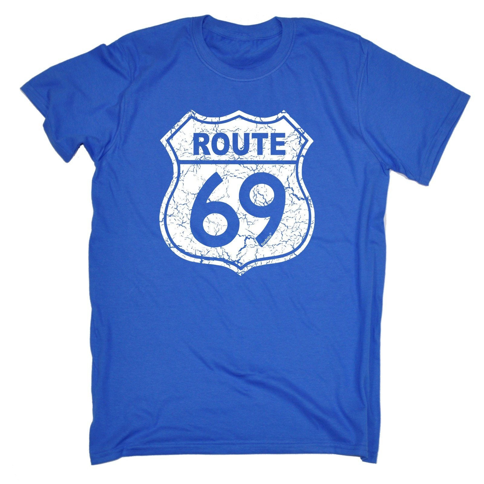 Route 123t nouveauté hommes 69 drôle T-Shirt Tee Tshirt T Shirts nouveauté 123t drôle cadeau d'anniversaire cadeau Noël 097ca5