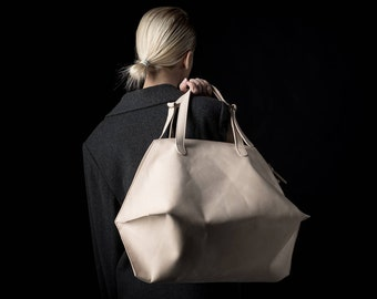 Leather tote bag, leather handbag, handmade tote bag, leather bag, leather, Nude leather bag, leather shoulder bag, women leather bag, alush
