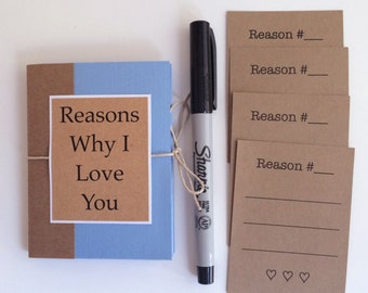 Long Distance Relationship Gift Paper Anniversary Reasons Why I Love You Boyfriend Husband Birthday