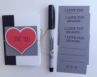 Anniversary Gift Mini Book Coupon Husband For Him I Love You Because Valentines Day Birthday Guy