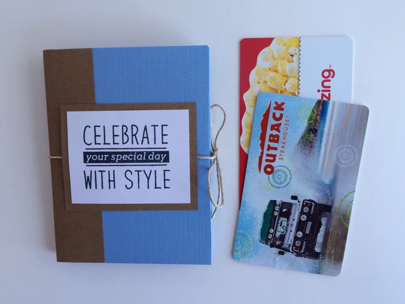 SALE Masculine Birthday Gift Card Book Long Distance