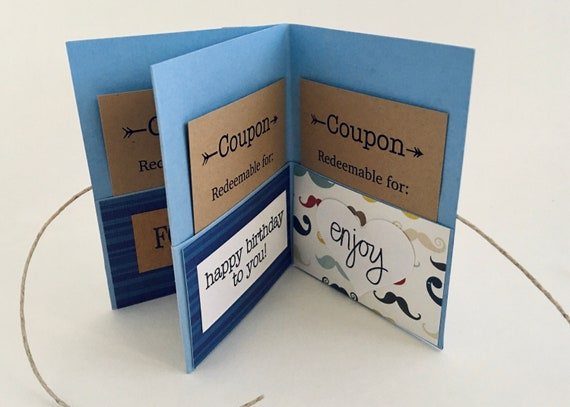 Birthday Coupon Book Gift Ideas Boyfriend Diy Birthday Card Etsy