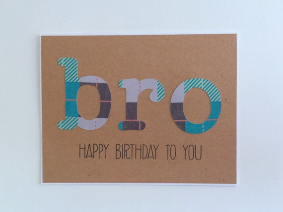 Brother Birthday Card Card For Brother Bro Card Happy Etsy