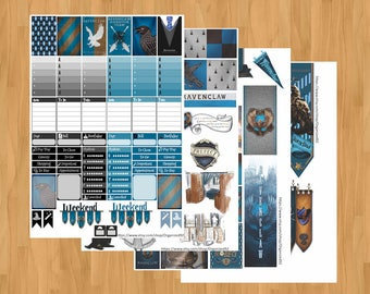 Ravenclaw Printables / Printable Hogwarts Stickers / Harry Potter Planner Printable / Planner Stickers / Printable Stickers
