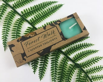 Tealight's pack of 3 - Forest - Scented - Scandinavian - Home Decor - Green - Candle