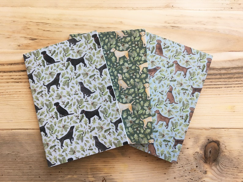 Eco-Friendly Woodland and Forest 100/% Cotton Canvas Tote Bag and A6 Dog Notebook Nature Set